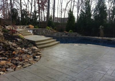 Beautiful Decorative Pool Deck